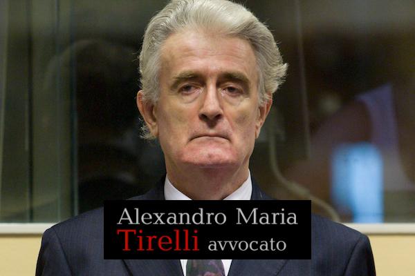 Una sentenza storica: Radovan Karadzic condannato a 40 anni di reclusione ma assolto dall'accusa di genocidio nelle municipalità bosniache